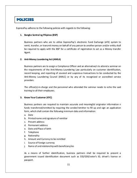 Anti Money Laundering Certificate Choice Image Editable Expresspay Company Profile