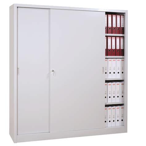 armoire metallique de bureau armoire haute métallique à portes coulissantes armoires