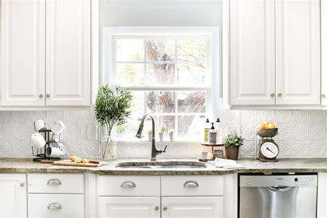 how to do backsplash in kitchen diy pressed tin kitchen backsplash bless 39 er house