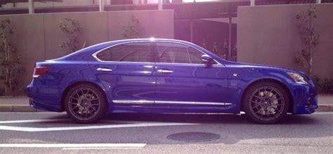 sporty lexus blue ultrasonic blue lexus ls f sport