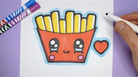 kawaii pommes frites zeichnen und malen kawaii bilder