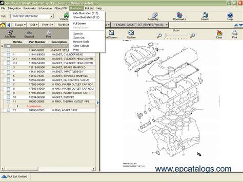 suzuki worldwide automotive epc  spare parts catalog