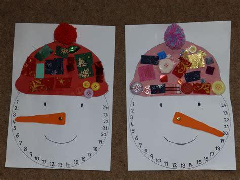 snowman advent calendar craftingcherubsblog