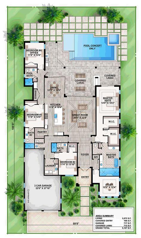 Home Design Ideas Floor Plans by Coastal Mediterranean House Plan 52916 Level One Home In