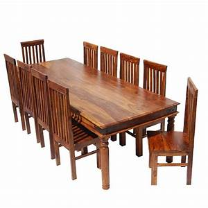 rustic lincoln study large dining room table chair set for With large rustic dining room table