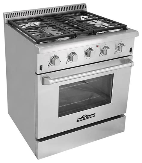 30 quot professional freestanding slide in stainless steel gas range contemporary gas ranges and