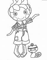 Lalaloopsy Coloring Pages Rag Boy Doll Printable Birthday Printables Littles Colouring Dolls 6th Template Getcolorings Boys Divyajanani sketch template