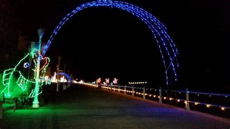 the christmas lights picture of virginia beach boardwalk