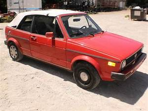 Sell Used 1987 Volkswagen Rabbit Karmann Cabriolet