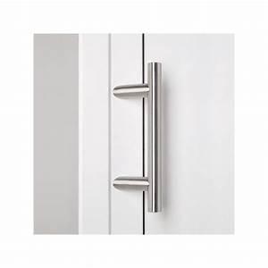 poignee de porte d39entree droite inclinee en inox chez With porte d entrée alu avec tube led pour salle de bain
