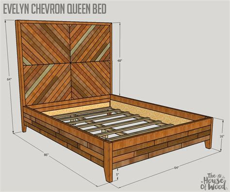 evelyn queen bed plans high meadow home chevron bedding diy bed frame diy bed