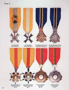 Coast Guard Medals And Awards Chart The Decorations And Medals Of The Republic Of Vietnam And