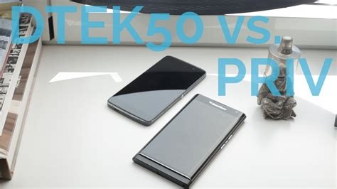 blackberry dtek50 vs priv