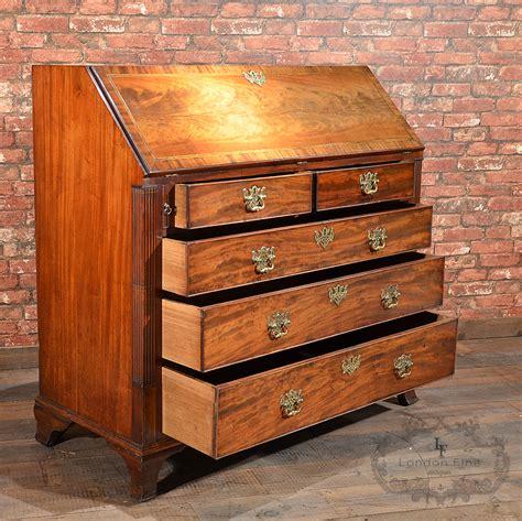 georges bureau antique george iii bureau mahogany desk c 1770