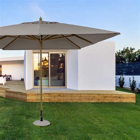 offerte ombrelloni da giardino ombrellone 3x4 colore tortora eclipse brigros