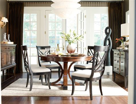 sophisticated dining room with table traditional