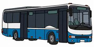 White And Blue Bus Stock Photography - Image: 17895302