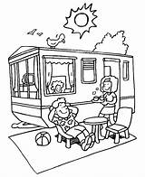 Caravan Coloring Pages Trailer Vakantie Trending Days Last sketch template