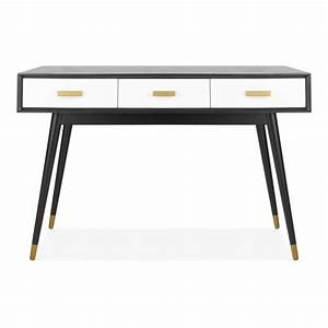 Schreibtisch Dunkles Holz : schwarzer goldener molander holz schreibtisch b rom bel ~ Indierocktalk.com Haus und Dekorationen