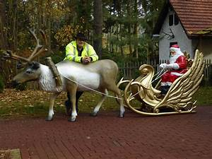 Weihnachtsmann Deko Aussen : deko weihnachtsmann mit deco schlitten und deko rentier ~ Orissabook.com Haus und Dekorationen