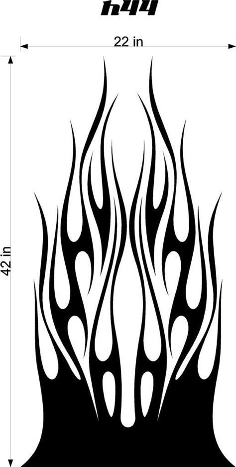 Auto Truck Car Hood Flames Graphics Decals HH44