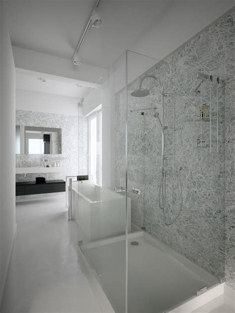 Modern Bathroom Design With Shower by Modern Minimalist Black And White Lofts S P A C E S