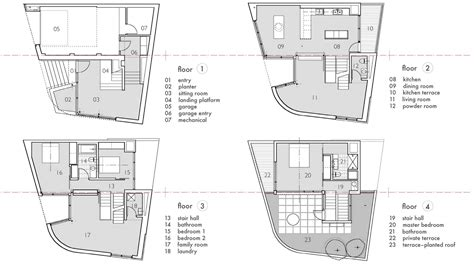 split level floor plan floor plans terrace split level house in philadelphia by
