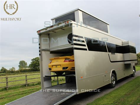 Motorhome With Garage by The Worlds 2 Storey Rigid Motorhome The Skyline