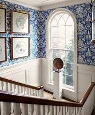White Wainscoting with Blue Walls