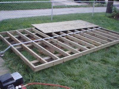 dalama   build  storage shed  skids