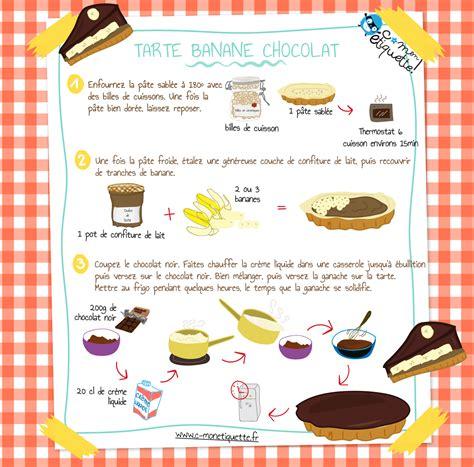 cuisiner des bananes recette de tarte banane chocolat