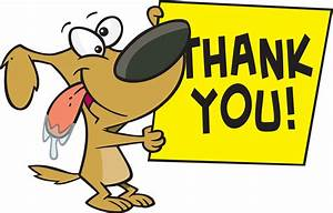 Dog Hold Thank You Note Graphic - Images, Photos, Pictures