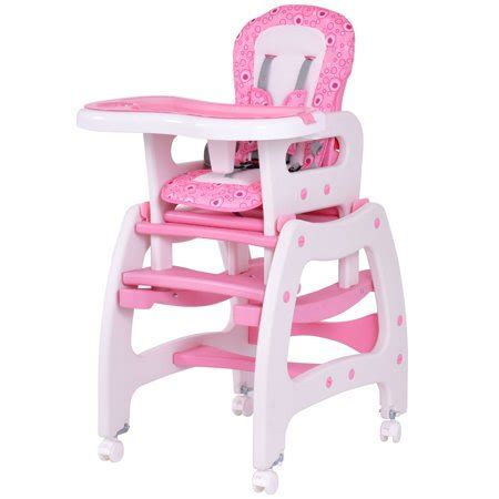 Costway 3 in 1 Baby High Chair Convertible Play Table Seat
