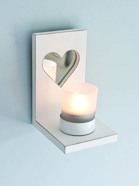 mirrored wall tealight holder