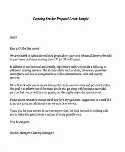 9 sample service proposal letters sample templates With catering business proposal letter sample