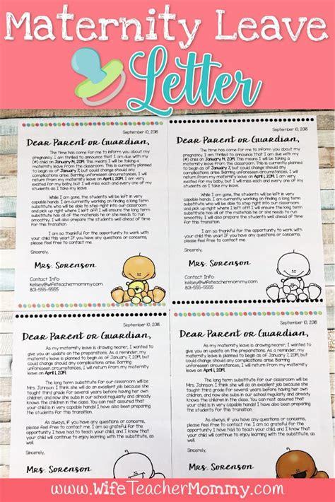 editable maternity leave letter  parents freebies