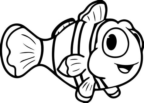 Cartoon Fish Cute Coloring Page Sheet Also see the