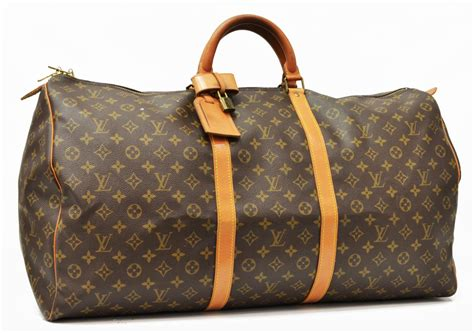 louis vuitton monogram keepall  traveling duffle  jo anne christian collection part