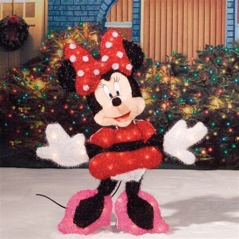 lighted minnie mouse disney tinsel christmas outdoor
