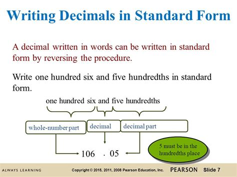 thirty five thousandths in decimal form introduction to decimals ppt video online download