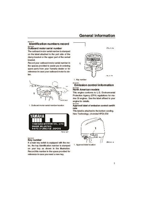 Yamaha Outboard Motor Owner S Manual by 2005 Yamaha Outboard F200d F225d Lf200d Lf225d Boat Motor