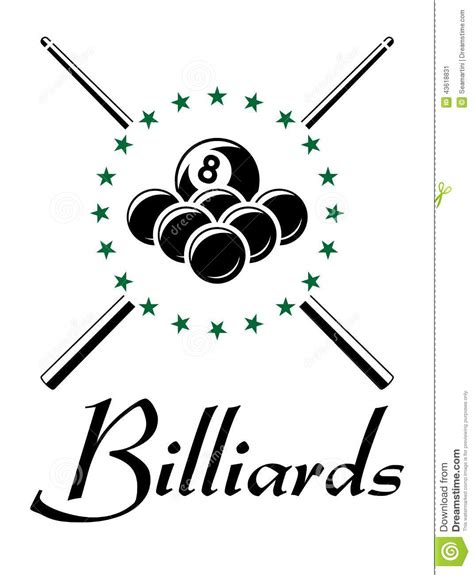 billiards balls billiards and snooker sports emblem stock vector image