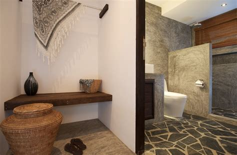 bathroom floor ideas tropical villa Rustic