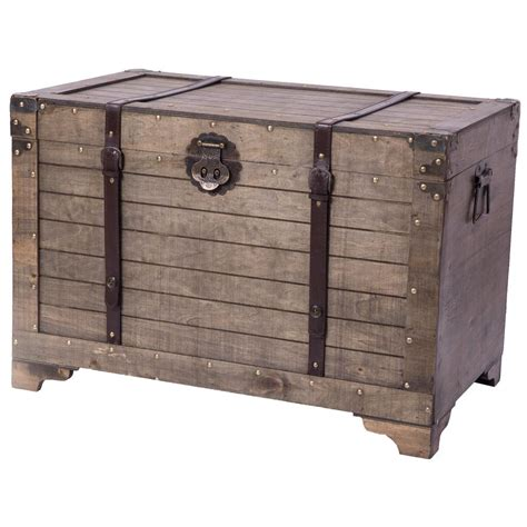 Vintiquewise Old Fashioned Large Natural Wood Storage
