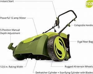 Sun Joe Aj801e Electric Lawn Dethatcher W   Collection Bag