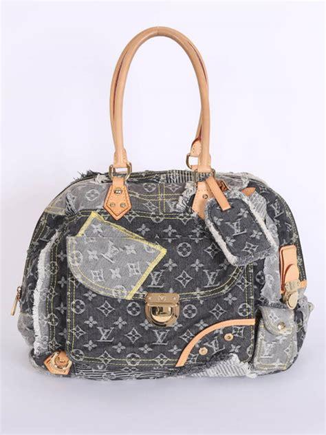 louis vuitton bowly denim patchwork shoulder bag noir luxury bags