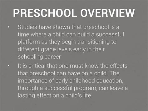preschool   importance  kindergarten