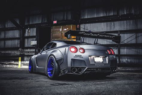 brixton forged wheels liberty walk nissan gtr coupe cars