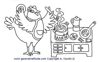 cucina  cibi da colorare