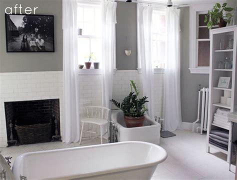 Gray + Green Bathroom Redo